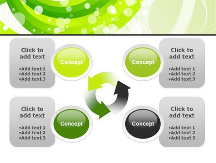 Green Swirl PowerPoint Template Slide 9
