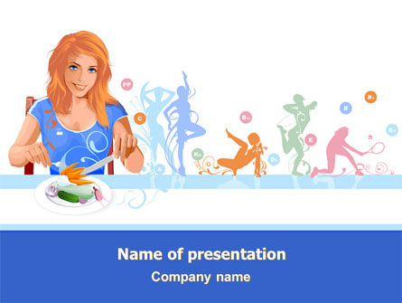 Healthy Menu PowerPoint Template, 08052, Health and Recreation — PoweredTemplate.com