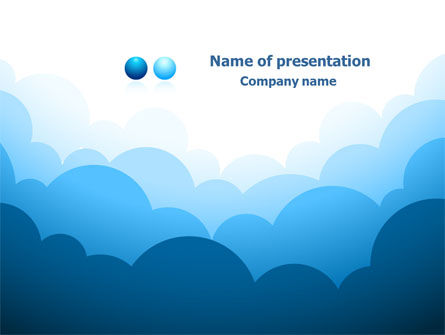 Blue Clouds PowerPoint Template, 08058, Abstract/Textures — PoweredTemplate.com