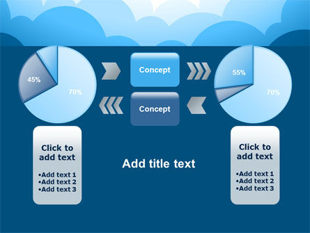 Blue Clouds PowerPoint Template Slide 11