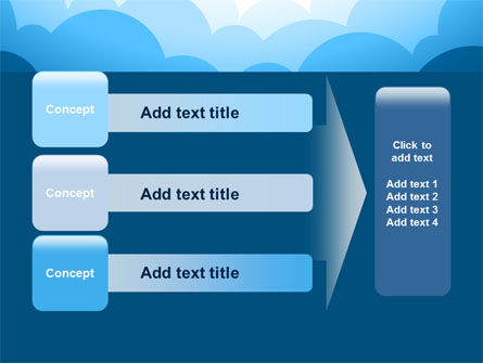 Blue Clouds PowerPoint Template Slide 12