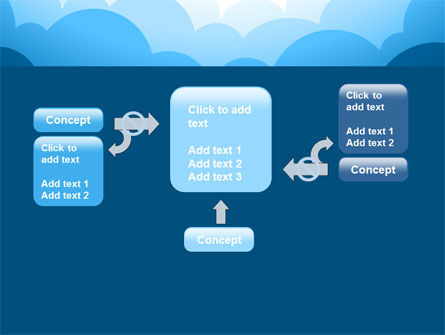 Blue Clouds PowerPoint Template Slide 13