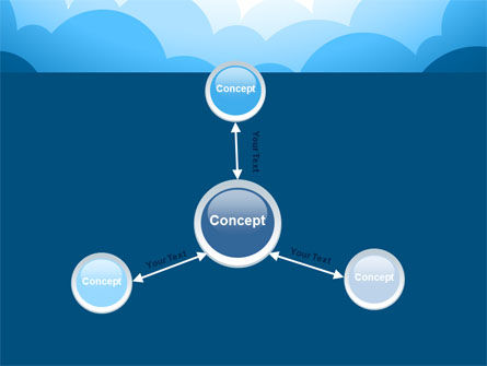 Blue Clouds PowerPoint Template Slide 14