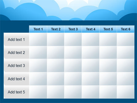 Blue Clouds PowerPoint Template Slide 15
