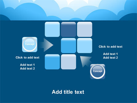 Blue Clouds PowerPoint Template Slide 16