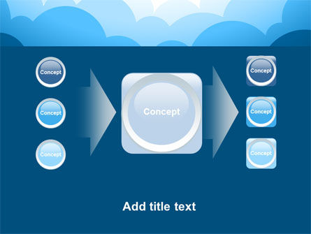Blue Clouds PowerPoint Template Slide 17