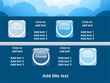 Blue Clouds PowerPoint Template Slide 19