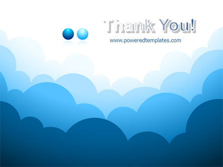 Blue Clouds PowerPoint Template Slide 20