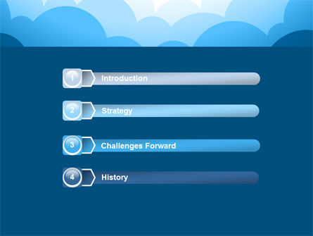 Blue Clouds PowerPoint Template Slide 3