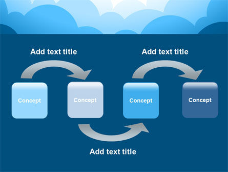 Blue Clouds PowerPoint Template Slide 4