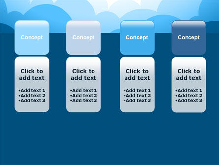 Blue Clouds PowerPoint Template Slide 5