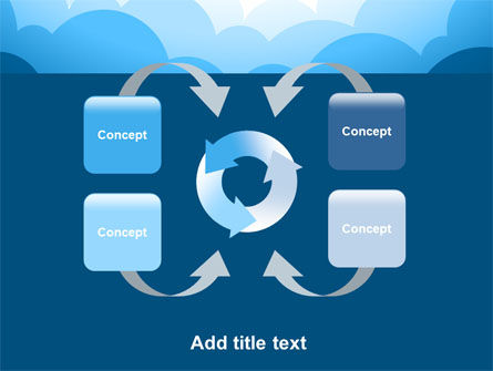 Blue Clouds PowerPoint Template Slide 6