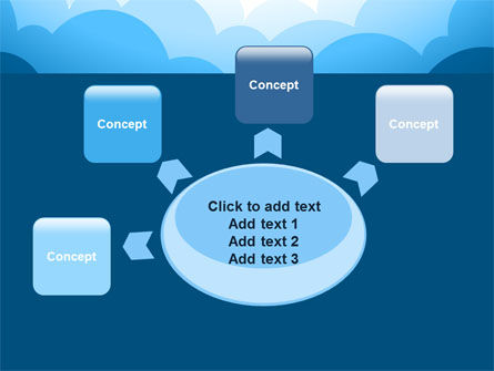 Blue Clouds PowerPoint Template Slide 7