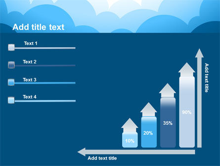 Blue Clouds PowerPoint Template Slide 8