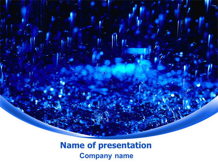 Nature & Environment: Falling Rain PowerPoint Template #08059