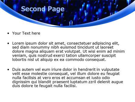 Falling Rain PowerPoint Template, Slide 2, 08059, Nature & Environment — PoweredTemplate.com