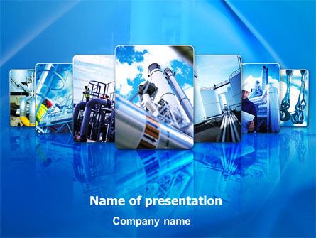 Utilities/Industrial: Pipe Welding PowerPoint Template #08060