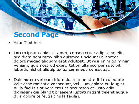 Brain MRI Scan PowerPoint Template, Slide 2, 08061, Medical — PoweredTemplate.com