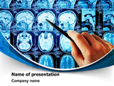 Medical: Brain MRI Scan PowerPoint Template #08061