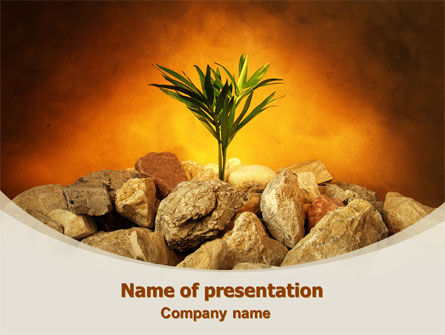 Tough Sprout PowerPoint Template, 08062, Business Concepts — PoweredTemplate.com