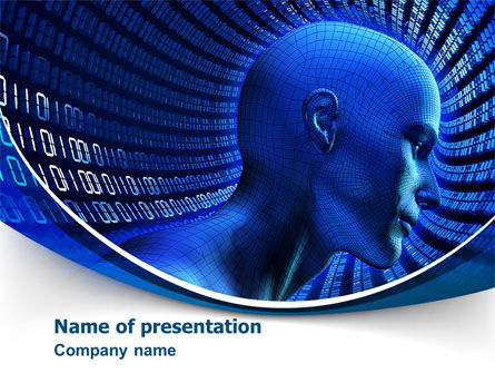 Technology and Science: Computer Intelligence PowerPoint Template #08065