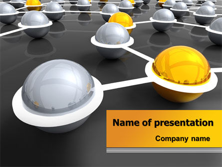 Network Elements PowerPoint Template, 08066, 3D — PoweredTemplate.com