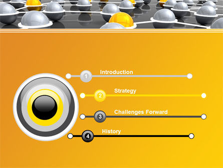 Network Elements PowerPoint Template, Slide 3, 08066, 3D — PoweredTemplate.com