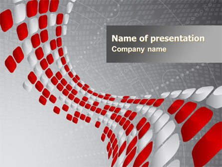 Red Dotted Wave PowerPoint Template, 08067, Business — PoweredTemplate.com