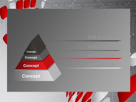 Red Dotted Wave PowerPoint Template Slide 12