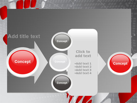 Red Dotted Wave PowerPoint Template Slide 17