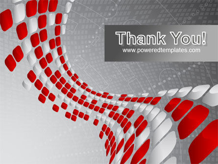 Red Dotted Wave PowerPoint Template Slide 20