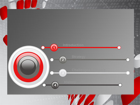 Red Dotted Wave PowerPoint Template, Slide 3, 08067, Business — PoweredTemplate.com
