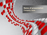 Red Dotted Wave PowerPoint Template#1