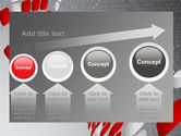 Red Dotted Wave PowerPoint Template#13