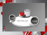 Red Dotted Wave PowerPoint Template#16