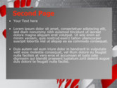 Red Dotted Wave PowerPoint Template#2