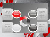 Red Dotted Wave PowerPoint Template#9