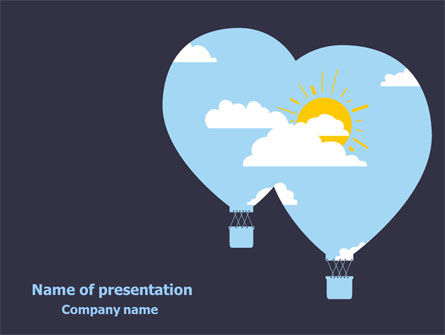 Education & Training: Modern Hot Air Balloon Free PowerPoint Template #08069