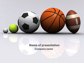 Sports: Sport Balls PowerPoint Template #08071