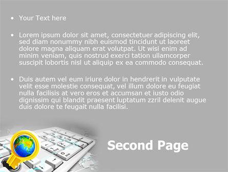 Keyboard Key PowerPoint Template Slide 2