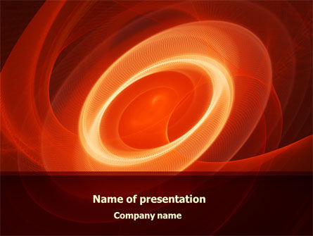 Abstract/Textures: Red Spiral PowerPoint Template #08074