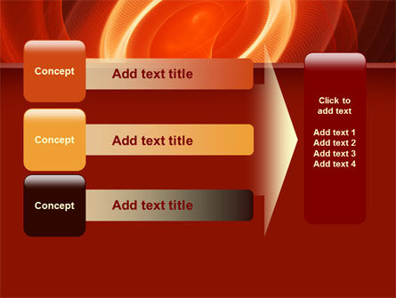 Red Spiral PowerPoint Template Slide 12