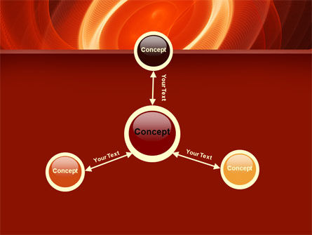 Red Spiral PowerPoint Template Slide 14