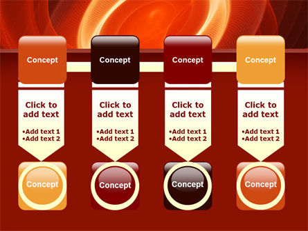 Red Spiral PowerPoint Template Slide 18