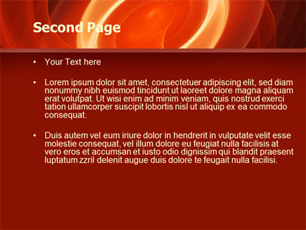 Red Spiral PowerPoint Template Slide 2