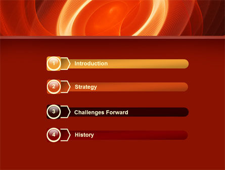 Red Spiral PowerPoint Template Slide 3