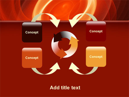 Red Spiral PowerPoint Template Slide 6