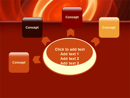 Red Spiral PowerPoint Template Slide 7
