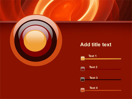 Red Spiral PowerPoint Template Slide 9