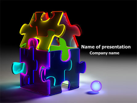 Jigsaw House PowerPoint Template